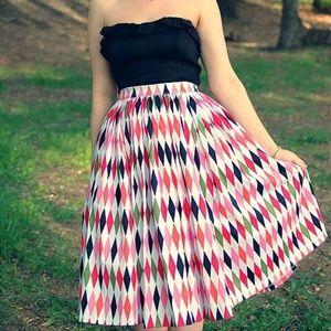 Pinup Girl Clothing Jenny Full Skirt 50s Harlequin